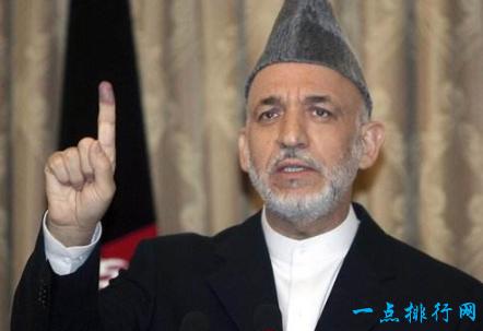 哈米德·卡尔扎伊,阿富汗,6300美元