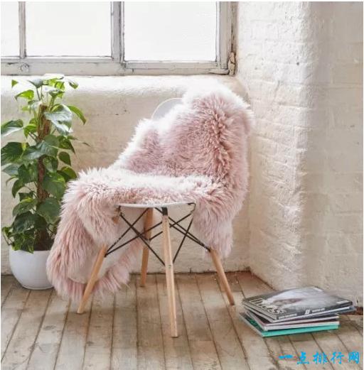 皇家梦幻大粉色羊皮地毯