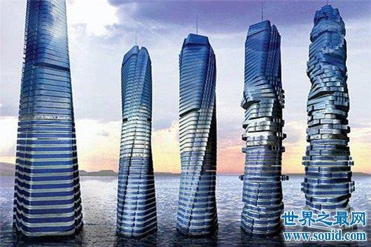 迪拜风中烛火大厦,身姿风骚被评为最疯狂的建