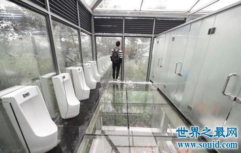 长沙透明女厕太奇葩 网友直呼不敢去
