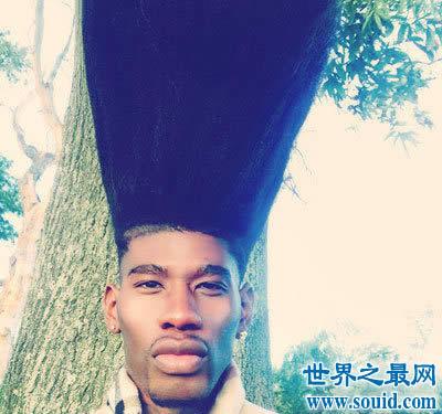 世界上最高的扫把发型,高52厘米(看图绝对吊炸