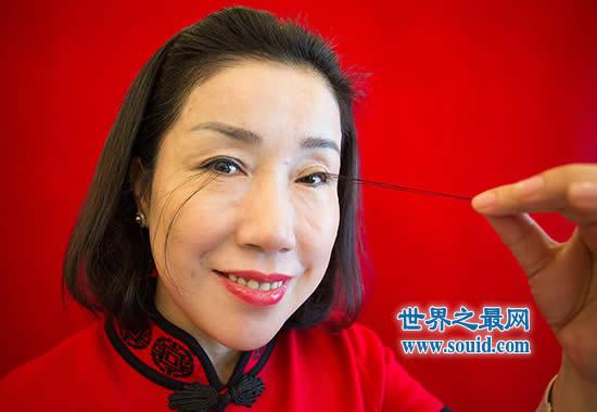 世界上最长的睫毛,美女尤建霞睫毛长12.4厘米