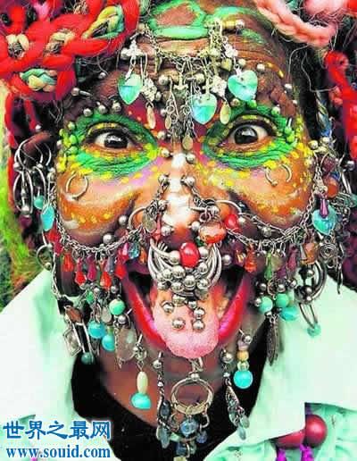 巴西女护士在脸上打6000多个孔,破吉尼斯纪录