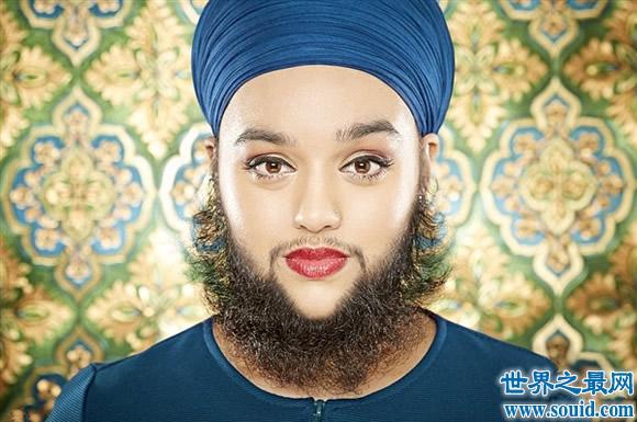 2017吉尼斯世界纪录大全,女子长15厘米的胡子