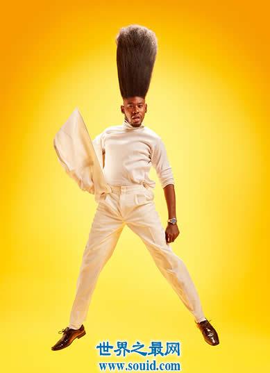 世界上最高的扫把发型,高52厘米(看图绝对吊炸天)