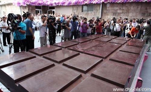 世界上最大的巧克力