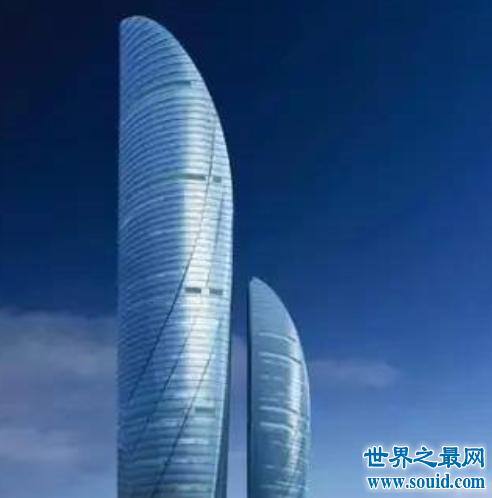 中国第一双子塔,厦门双子塔高300米。